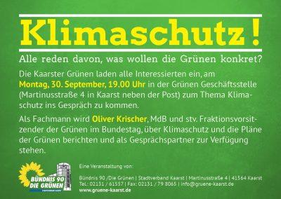 KLIMASCHUTZ - Infoabend mit Oliver Krischer @ Geschäftsstelle BÜNDNIS 90/DIE GRÜNEN