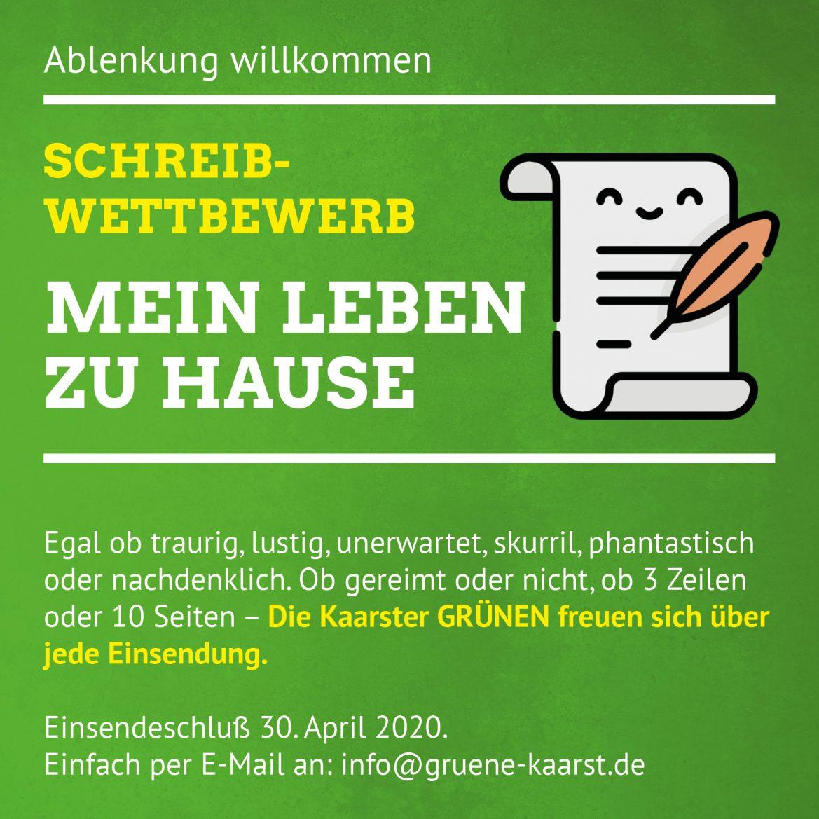 """Schreibwettbewerb: """"Mein Leben zu Hause"""""""