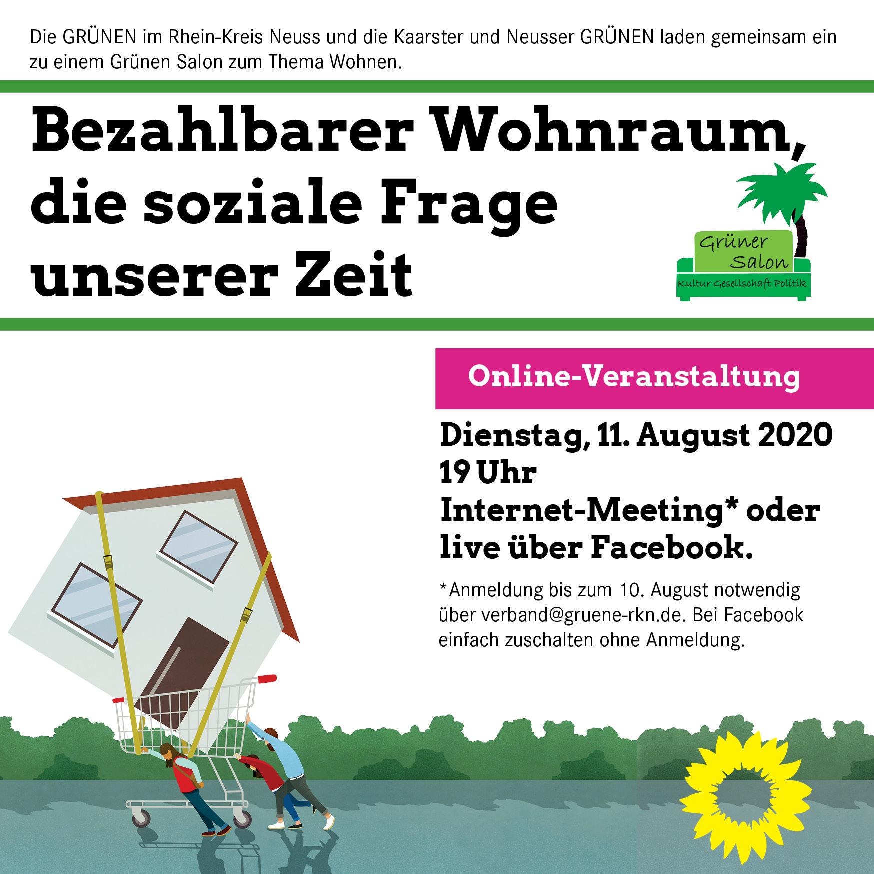GRÜNER SALON online: Bezahlbarer Wohnraum