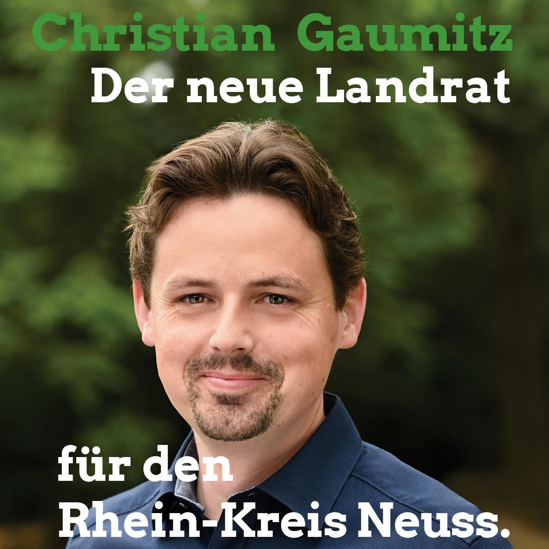 Christian Gaumitz: Der neue Landrat für den Rhein-Kreis Neuss