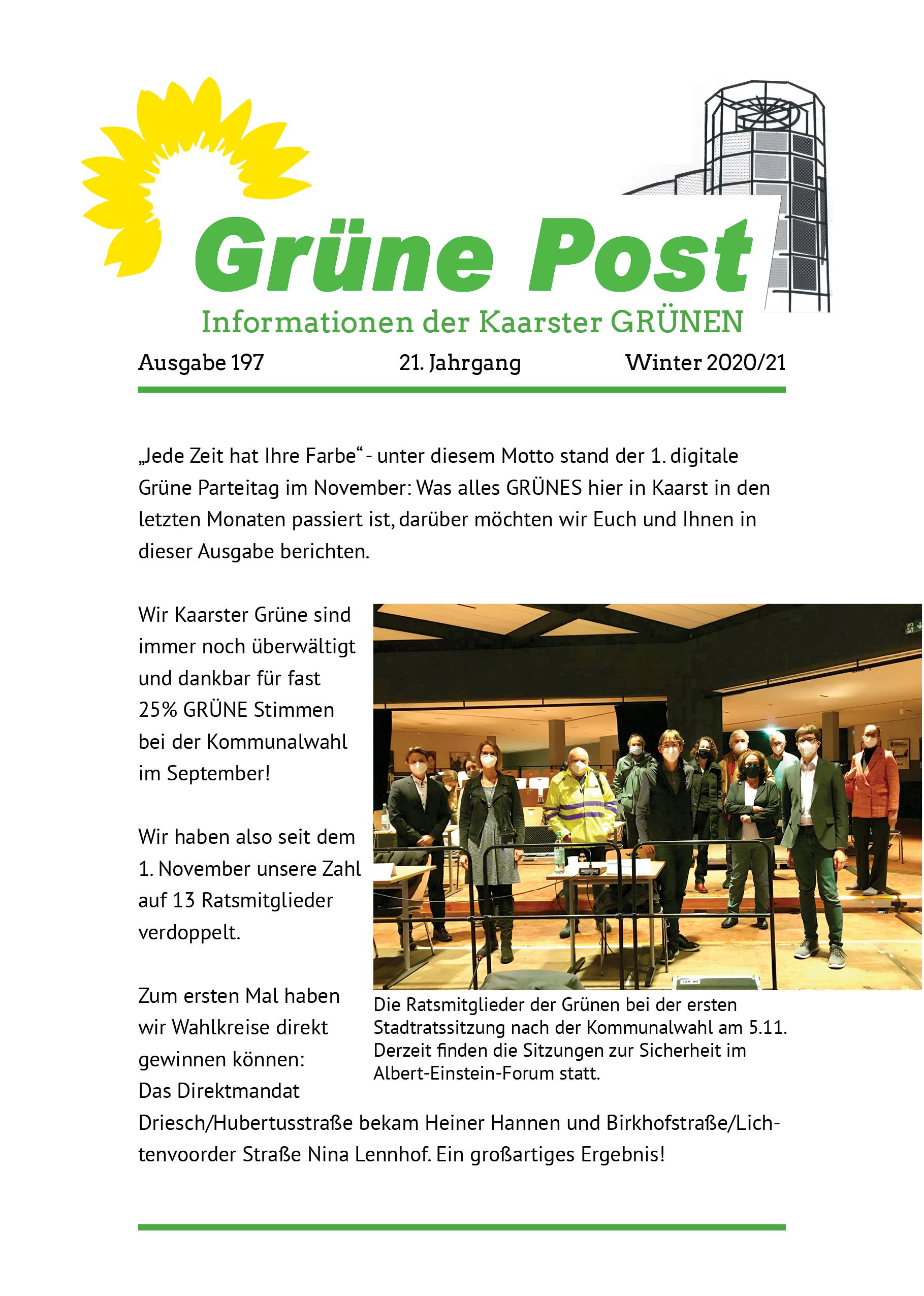 GRÜNE POST Ausgabe 197 – Winter 2020/21
