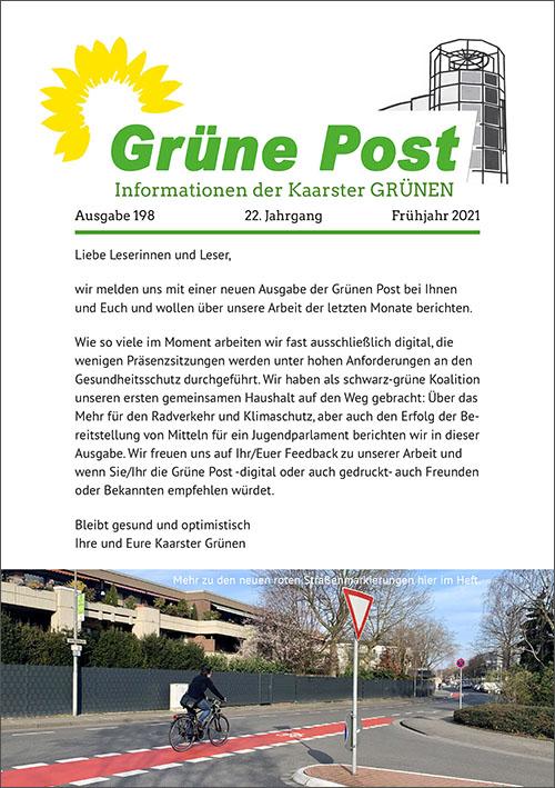 GRÜNE POST Ausgabe 198 – Frühjahr 2021